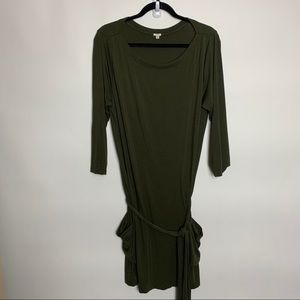 J CREW Olive Green Casual Dress with Pockets